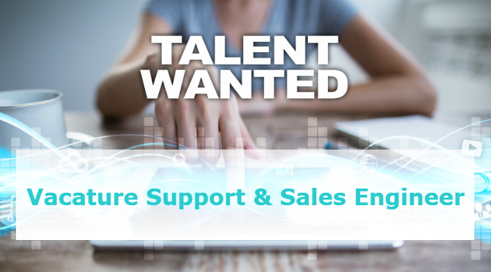 Vacature support & sales engineer