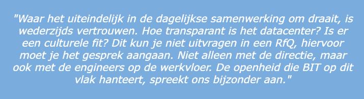 Quote dotXS samenwerking BIT
